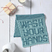 Wash Your Hands Towel pattern