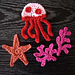 Jellyfish, Starfish and Coral Sea Creatures Appliques pattern
