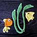 Goldfish, Anglefish & Seaweed Appliques pattern