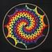 Rainbow Granny Spiral Sun-Catcher pattern