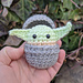 Baby Yoda and Bassinet Toy pattern