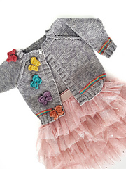 Butterflies and rainbows cardigan jane burns