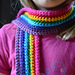 Rainbow scarf for Maia pattern