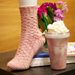 Strawberries & Cream Frappé Socks pattern