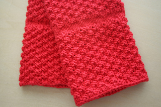 Ravelry Chili Pepper Red Kitchen Towel