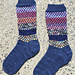Purple Cork Socks pattern
