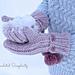 """Winter Poms"" Reversible Mittens pattern"