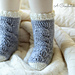 Big Bold Cabled Slipper Socks & Footies (Baby) pattern
