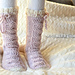 Big Bold Cabled Slipper Socks & Footies (Kids) pattern