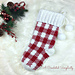 Gingham Plaid Christmas Stocking pattern