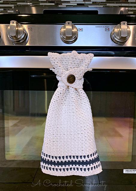 Ravelry Farmhouse Striped Kitchen Towel Pattern By Jennifer Middleton