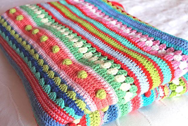 Crochet Blanket Using Different Stitches