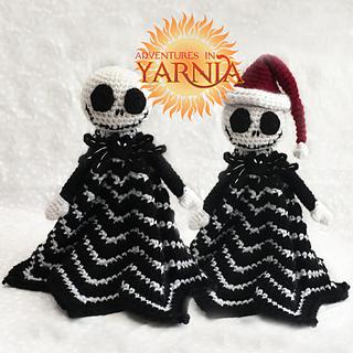Nightmare Before Christmas Crochet Blanket.Jack Skellington Lovey Pattern By Adventures In Yarnia