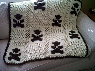 CROCHET PATTERN: teddy bear crochet baby blanket pattern and step ... | 240x320