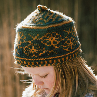 With five sizes, you can make one for anyone.  This is the Small.  Stays snugly on the head.