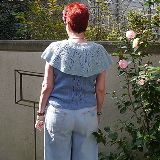 A back view of the Ninth Ward Cosy worn over French Quarter Tank