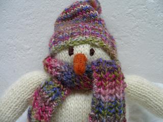Cozy Snowman close up