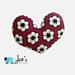 African Flower Heart Pillow pattern