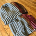 Vertical Braids Fingerless Gloves/Beanie pattern