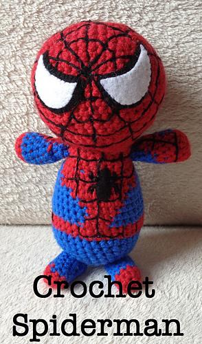 Amigurumi Spiderman Free Crochet Pattern - Crochet.msa.plus | 500x294