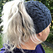 Lobster Claw Cable Messy Bun Hat pattern