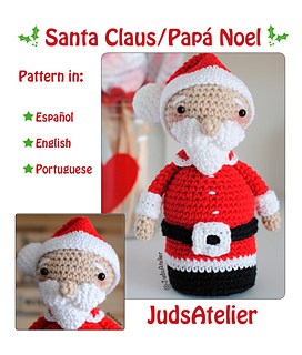 Papá Noel de ganchillo amigurumi - Gloriarte crochet | 320x272