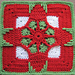 Holiday Ornament Afghan Square pattern