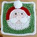 Santa Claus Afghan Square pattern
