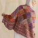 #2 Tangerine Eyelet Wrap pattern