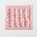 Simple Eyelet Washcloth pattern