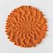 Cabled Sunburst Washcloth pattern