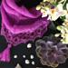 Florlet cowl med blonde pattern