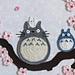 Totoro appliqué pattern