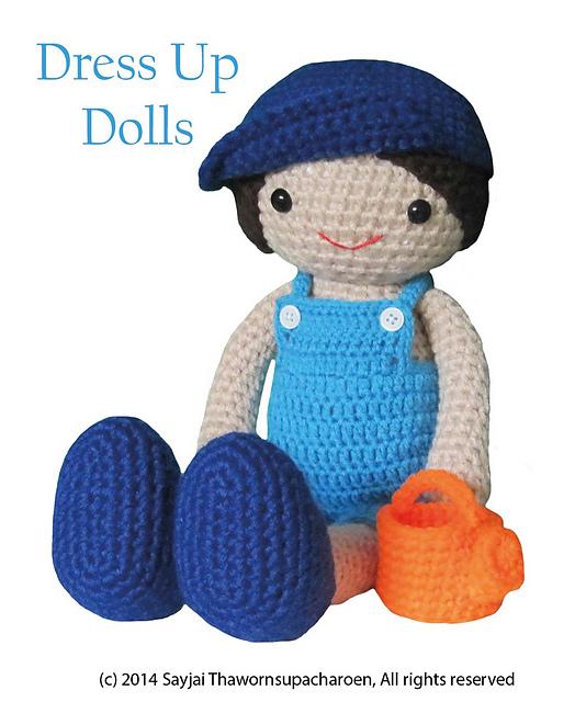 Ravelry: Boy Doll: Dress Up Dolls Amigurumi Crochet Patterns pattern by  Sayjai Thawornsupacharoen | Puppen | 640x524
