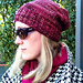 Mock Cable Hat with Seed Stitch pattern