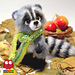 149 Raccoon Forest Animal pattern
