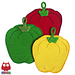 070 Sweet peppers potholder pattern