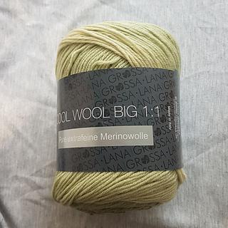 50 g Laine Merino Superfine Citron vert FB 966 Lana Grossa Cool Wool Big