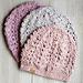 Velvet Lace Beanie pattern