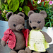 Zoey and Oliver bears pattern
