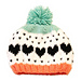 Caroline Heart Knit Hat pattern