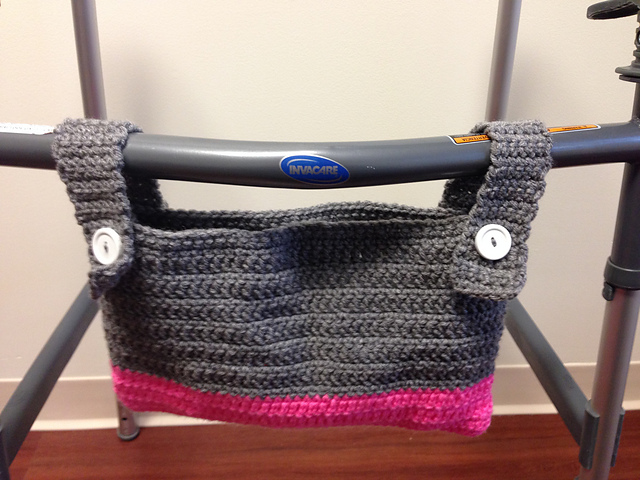 Ravelry Easy Walker Wheelchair Bag Pattern By Katy Bradley