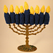 Hanukkah Candles Finger Puppets pattern