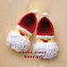 Santa Claus Baby Booties pattern