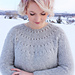 Easy Eyelet Yoke Sweater pattern