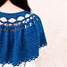 Shimmering Sapphire Capelet pattern