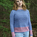 Lace Pullover with Zig Zag Border pattern