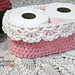 Pink Lace Toilet Paper Basket pattern