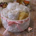 Round Cluster Basket with Drop over Lace Edge pattern