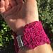 Tunisian Yarn and Wire Bracelet pattern